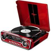 ION IT69 Mustang Lp 4IN1 Turntable Entertainment Sysytem Red