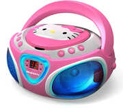 Hello Kitty KT2025 CD Boombox with AM/ FM Stereo Radioand LED LightShow