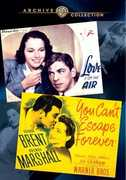Wac Double Features: Love Is on the Air /  You CanT Escape Forever , George Brent