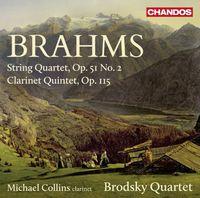Michael Collins - Brahms: String Quartet, Op. 51, No. 2 & Clarinet Quintet, Op. 115