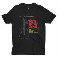 John Lee Hooker - John Lee Hooker The Big Soul Of John Lee Hooker Stereophonic Album Cover Black Lightweight Vintage Style T-Shirt (Large)