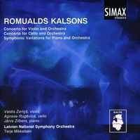 R. Kalsons - Violin Cto / Cello Concerto / Symphonic Variations