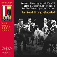 Juilliard String Quartet - Mozart, Bartok & Dvorak: String Quartets