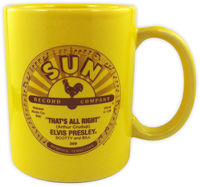 Elvis Presley - Elvis Presley That's All Right / Blue Moon Of Kentucky Yellow 11 Oz Ceramic Coffee Mug