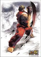 Super Street Fighter IV Ken Wallscroll - Super Street Fighter Iv Ken Wallscroll