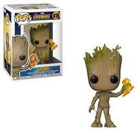 Funko Pop! Marvel: - FUNKO POP! MARVEL: Avengers Infinity Wars - Groot w/ Stormbreaker