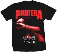 Pantera - Pantera Red Vulgar Display Of Power Black Unisex Short Sleeve T-shirt Large