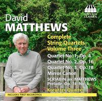 Kreutzer Quartet - Comp STR QRTS Vol. 3