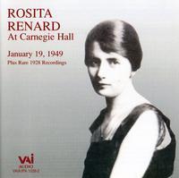 ROSITA RENARD - At Carnegie Hall