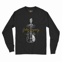 John Fogerty - John Fogerty 1969 Rickenbacker 325 Sunburst CCR ACME Guitar Black Long Sleeve T-Shirt (Medium)