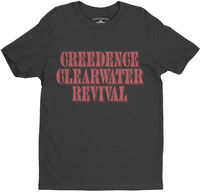 Creedence Clearwater Revival - Creedence Clearwater Revival Black Lightweight Vintage Style T-Shirt (2XL)