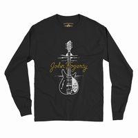John Fogerty - John Fogerty 1969 Rickenbacker 325 Sunburst CCR ACME Guitar Black Long Sleeve T-Shirt (Large)