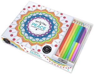 VIVE LE COLOR! PEACE COLORING BOOK & 8 PENCILS