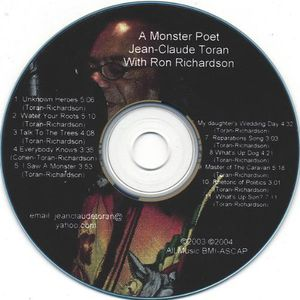 Monster Poet Jean-Claude Toran with Ron Richardson