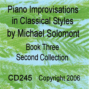 Piano Improvisations in Classical Styles-Book Three Second Collection
