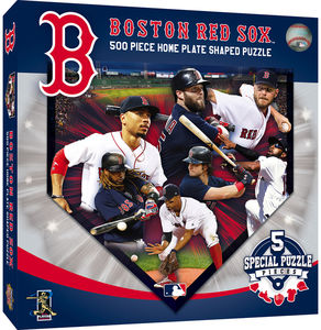 MasterPieces Boston Red Sox 500 Piece Home Plate Shaped Puzzle