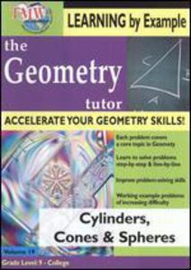 Geometry Tutor: Cylinders, Cones and Spheres