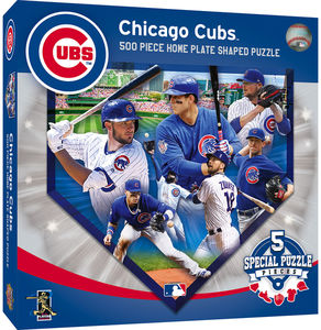 MasterPieces Chicago Cubs 500 Piece Home Plate Shaped Puzzle