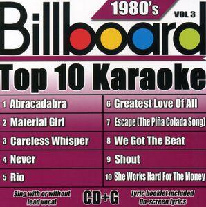 Billboard Top 10 Karaoke: 1980's, Vol. 3