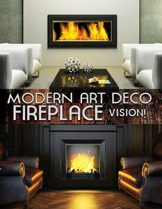 Modern Art Deco Fireplace Vision