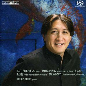 Plays Rachmaninoff Bach Busoni Ravel Stravinsky