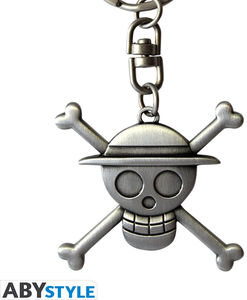 ONE PIECE KEYCHAIN 3D SKULL LUFFY
