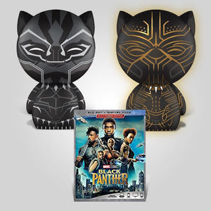 Black Panther Dorbz Glow Blu-ray Bundle