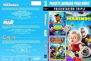 Paquete Animado Para Ninos: Presentacion Triple 2
