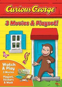 Curious George: 3-movies & Playset
