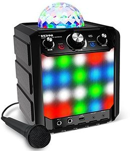 ION IPA78BK Party Rocker Express Bluetooth Portable PA With Mic LightsKaraoke AC DC Black