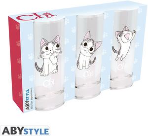 CHI'S SWEET HOME - CHI 3-PC. GLASS SET BY ABYSTYLE