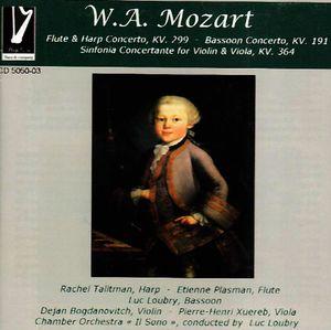 Mozart Flute & Harp Bassoon Concerto Sinfonia Concerto