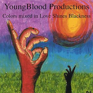 Colors Mixed in Love Shines Blackness