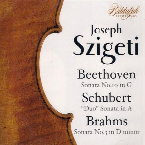Szigeti Conducts Beethoven Schubert Brahms Heiss