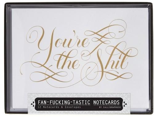 - Fan-fucking-tastic Notecards: 12 Notecards & Envelopes