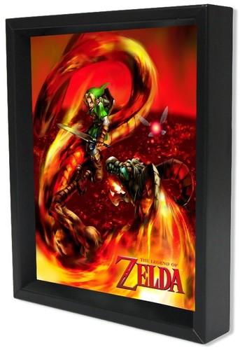 Zelda Volvagia 8X10 Framed 3D Lenticular - Zelda Volvagia 8x10 Framed 3D Lenticular