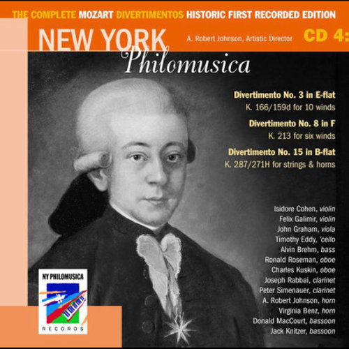 The Complete Mozart Divertimentos Historic First Recorded Edition Cd 4