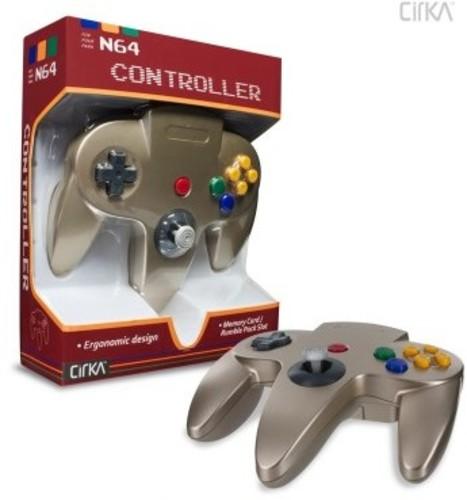 - CirKa N64 Controller: Gold for Nintendo 64
