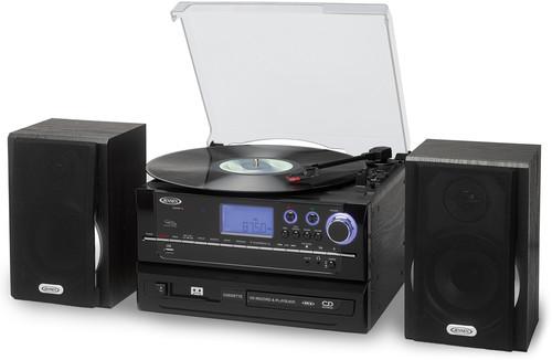 Jensen Jta990 Trntbl CD Rec Cass Am/Fm Ent Sys Blk - Jensen JTA-990 3-Speed Stereo Turntable CD Recording System withCassette, AM/FM Stereo Radio and MP3 Encoding Black