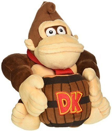 "- Little Buddy Super Mario Bros. Donkey Kong Barrel 8"" Plush"
