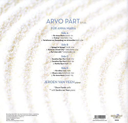 Arvo P-RT: Fur Anna Maria Complete Piano Music