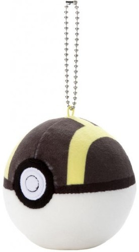 Takaratomy Pokemon - 3 Mocchi Mocchi Pokeball Key - TakaraTomy Pokemon - 3 Mocchi Mocchi Pokeball Keychain - Ultra BallPlush