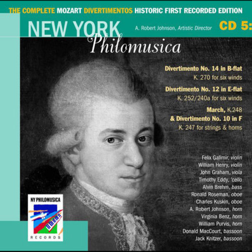 The Complete Mozart Divertimentos Historic First Recorded Edition Cd 5