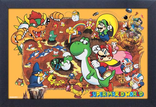 Super Mario World 11X17 Framed Gel Coat Print - Super Mario World 11x17 Framed Gel Coat Print