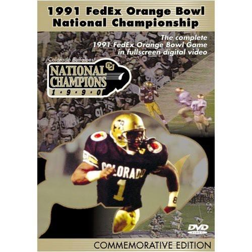 1991 Orange Bowl Championship Colorado Buffalos