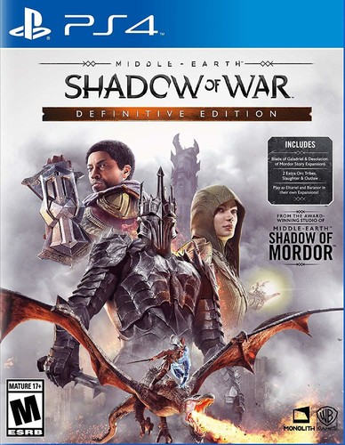 - Middle Earth: Shadow of War - Definitive Edition for PlayStation 4