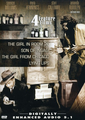 4 Feature Films: The Girl in Room 20 /  Son of Ingagi /  The Girl From Chicago /  Lying Lips