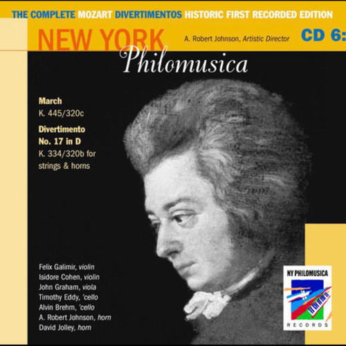 The Complete Mozart Divertimentos Historic First Recorded Edition Cd 6