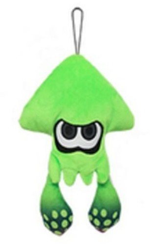 "- Little Buddy Splatoon Inkling Squid 9"" Plush - Green"