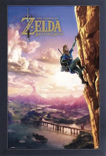 Zelda Botw Climbing 11X17 Framed Gel Coat Print - Zelda BotW Climbing 11x17 Framed Gel Coat Print